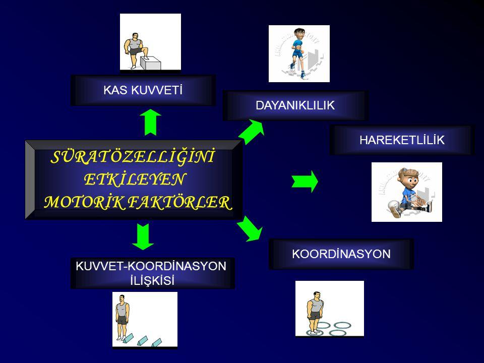 SÜRATİ ETKİLEYEN DİĞER FAKTÖRLER Bedensel YapıPsikolojik FaktörlerYorgunluk ve diğerDış Faktörler  Boy  Kilo  Diğer v.b.