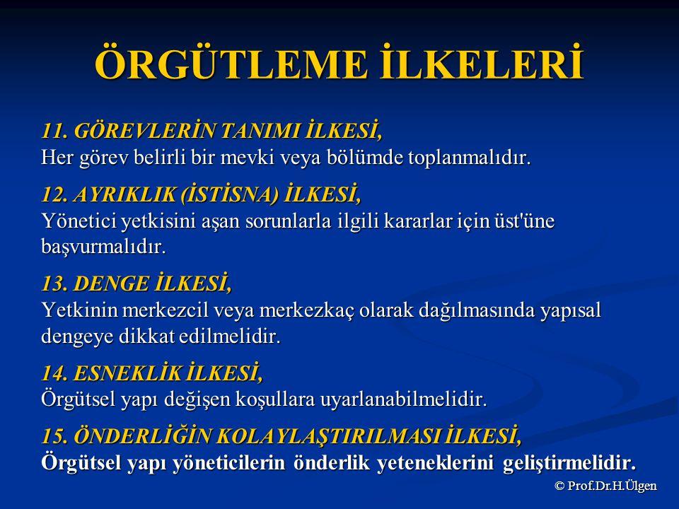 ÖRGÜTLEME İLKELERİ 11.