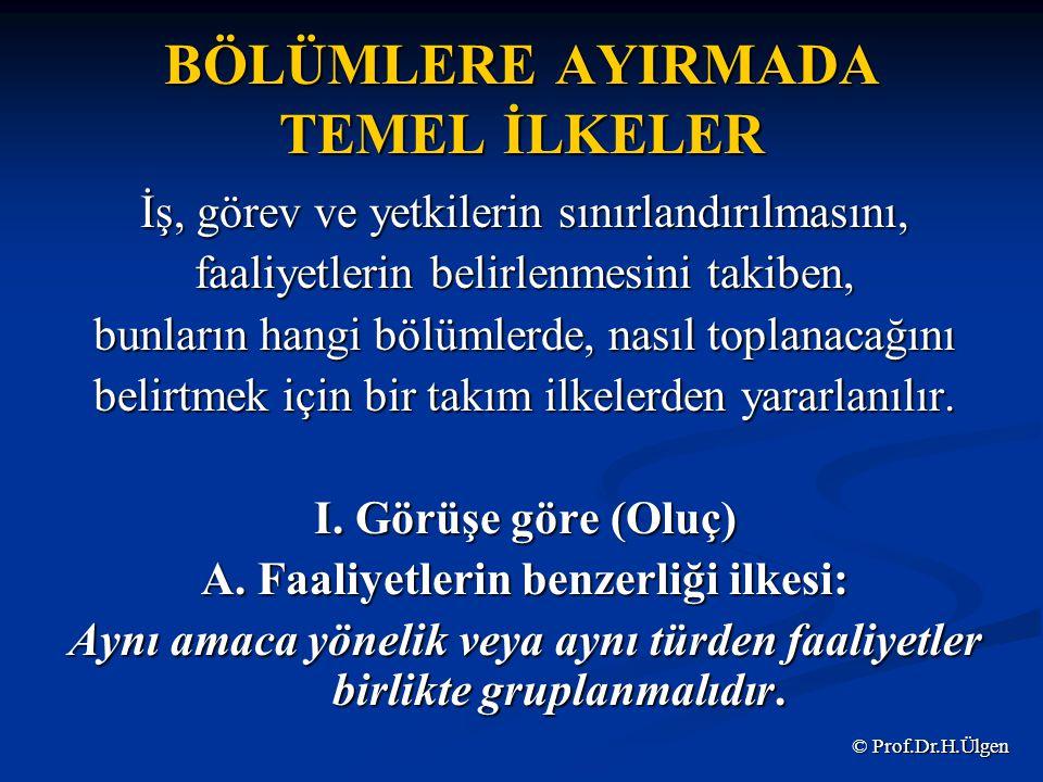 BÖLÜMLERE AYIRMADA TEMEL İLKELER B.
