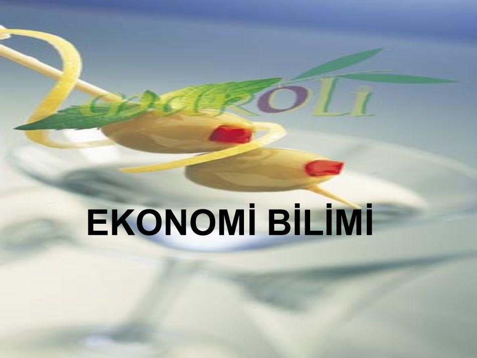 EKONOMİ BİLİMİ