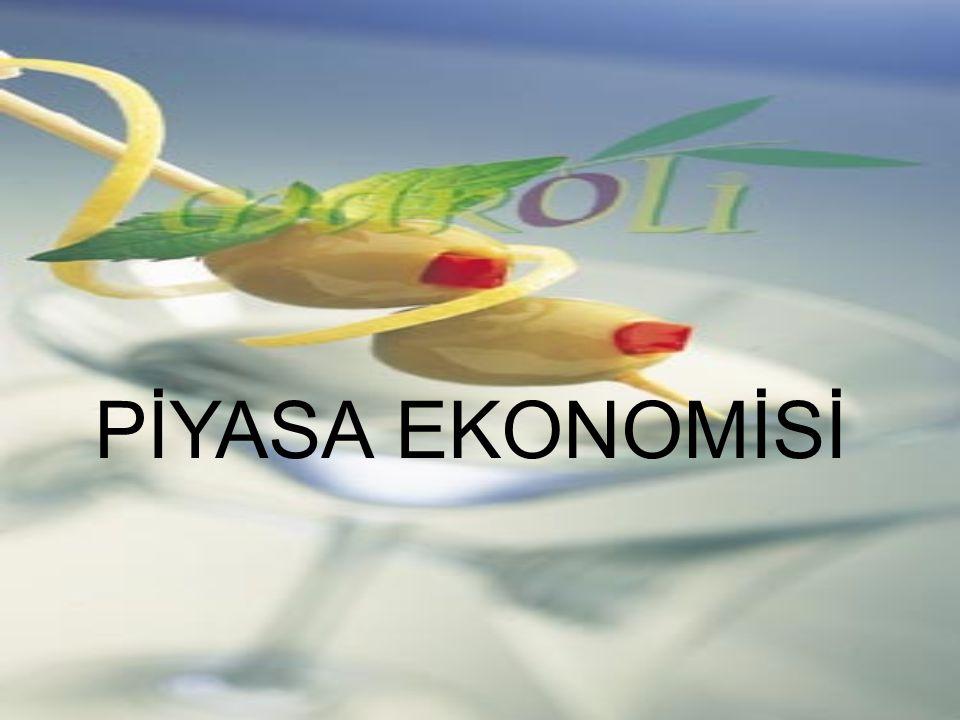 PİYASA EKONOMİSİ