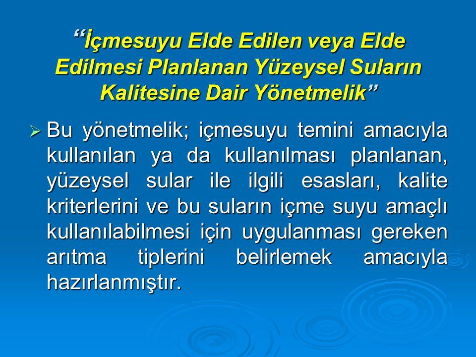 BAFRA SU ARITMA TESİSİ TERS OZMOZ ÜNİTELERİ