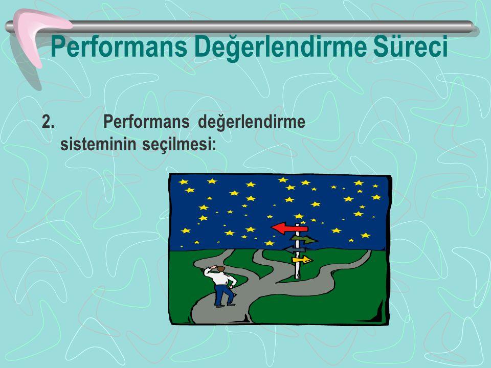 Performans Değerlendirme Süreci 2. Performans değerlendirme sisteminin seçilmesi: