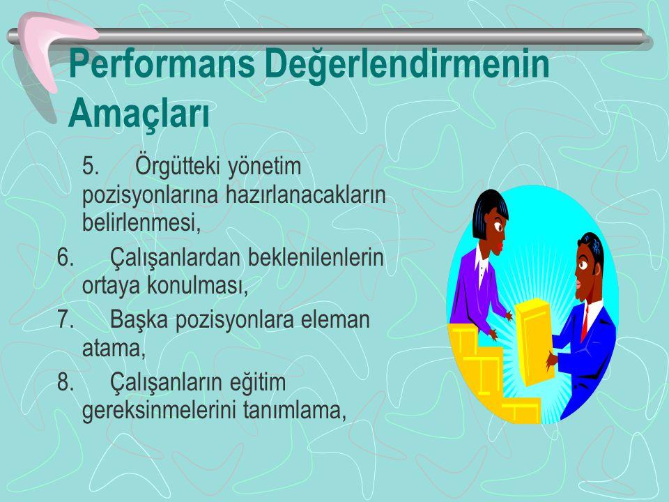 Performans Değerlendirmenin Amaçları 5.