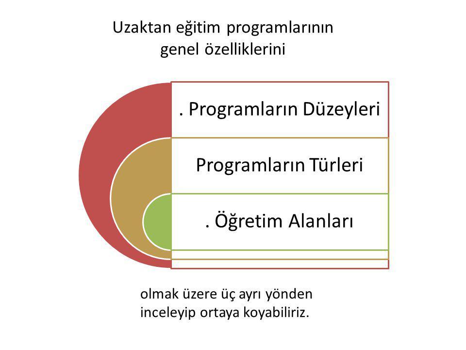 Uzaktan eğitim programlarının genel özelliklerini.