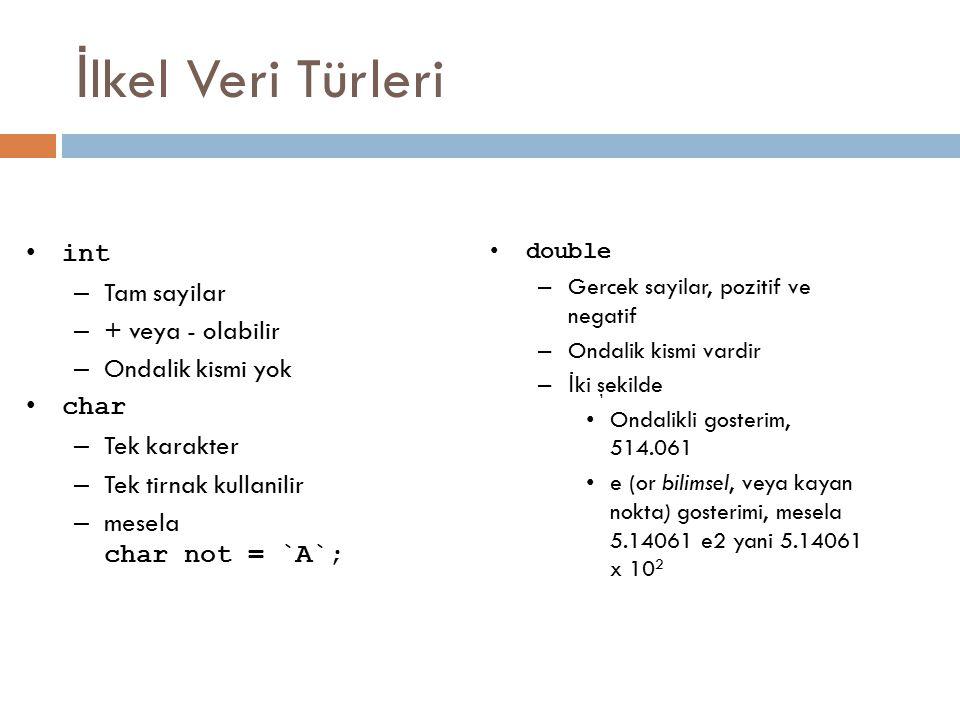 İ lk Java Programı public class Merhaba{ public static void main(String[] args) { System.out.println( Merhaba Dunya ); }