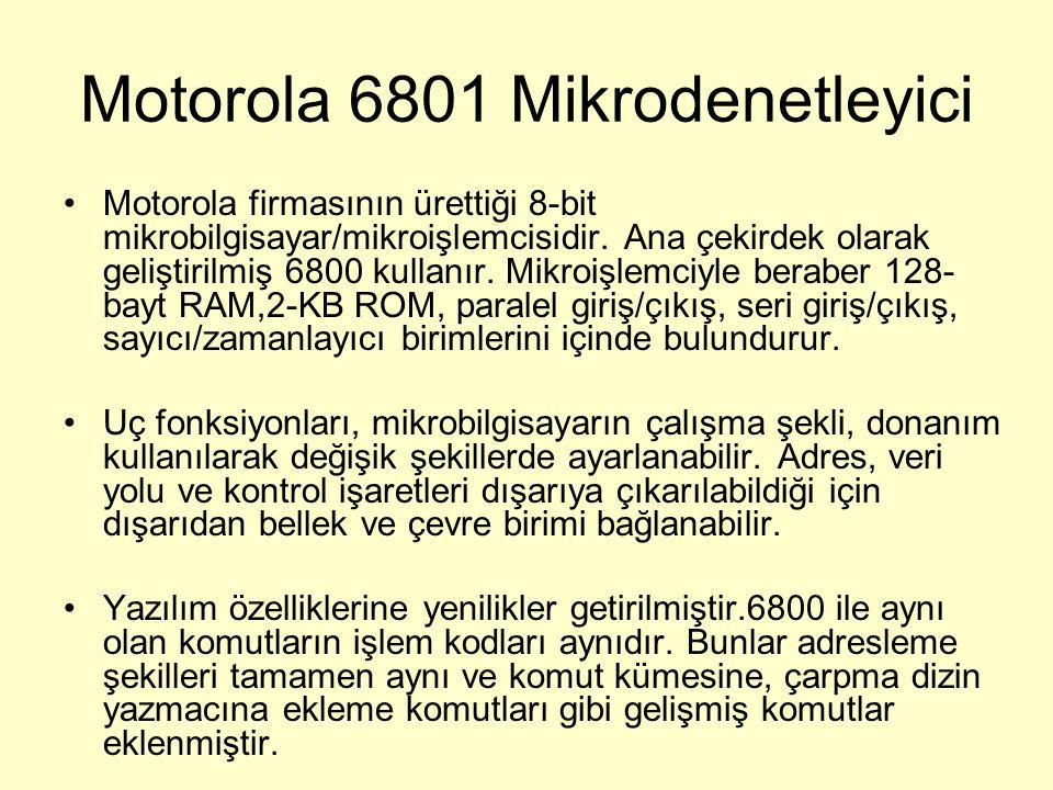 Motorola 6801 Mikrodenetleyici Motorola firmasının ürettiği 8-bit mikrobilgisayar/mikroişlemcisidir. Ana çekirdek olarak geliştirilmiş 6800 kullanır.