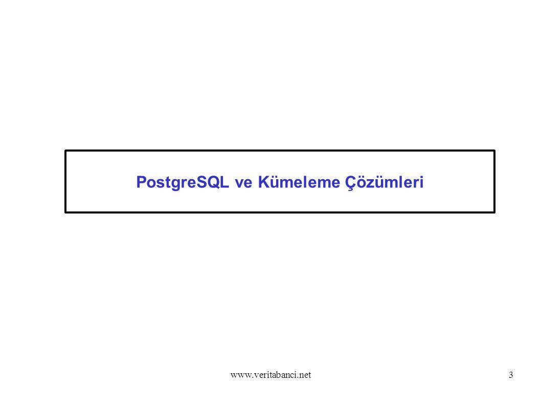 www.veritabanci.net3 PostgreSQL ve Kümeleme Çözümleri