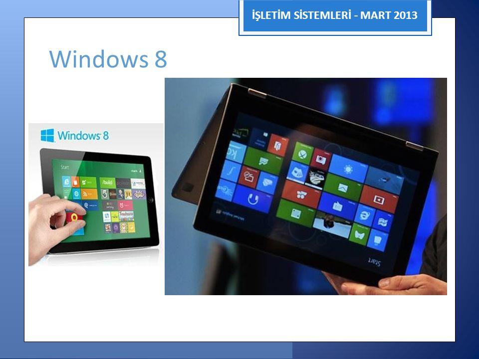 İŞLETİM SİSTEMLERİ - MART 2013 Windows 8