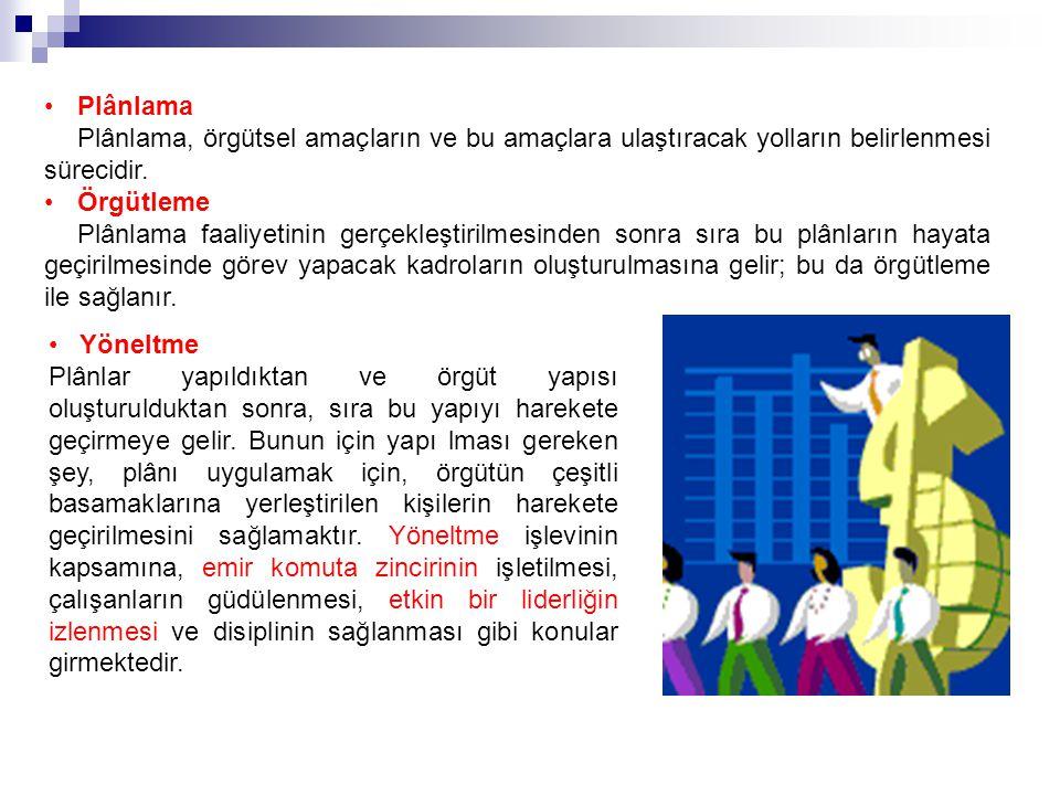 Örgütlerde Bölümlere Ayırma Örgütlemede Matriks Yapı