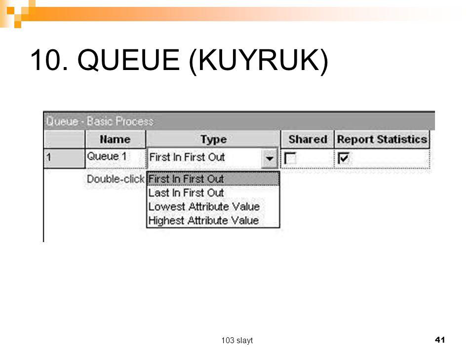 103 slayt 41 10. QUEUE (KUYRUK)