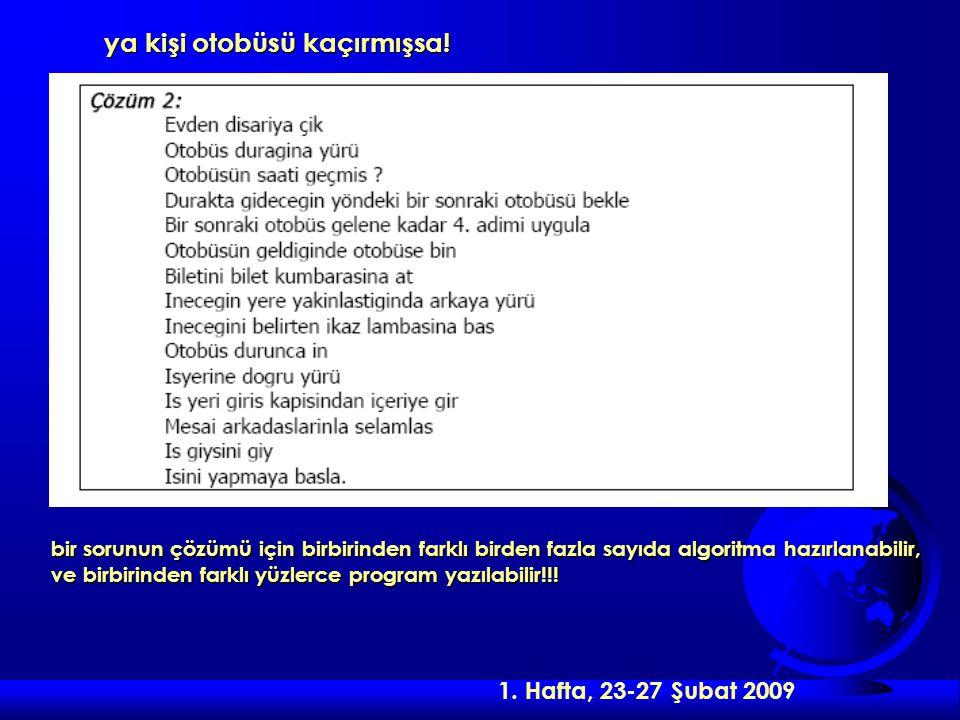 2.Hafta, 02-07 Mart 2009 Üçüncü mantıksal yapı çeşidini tekrarlı yapılar oluşturmaktadır.