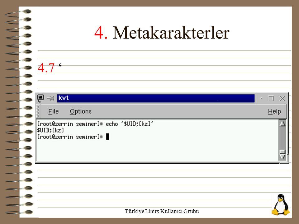 Türkiye Linux Kullanıcı Grubu 4. Metakarakterler 4.7 '