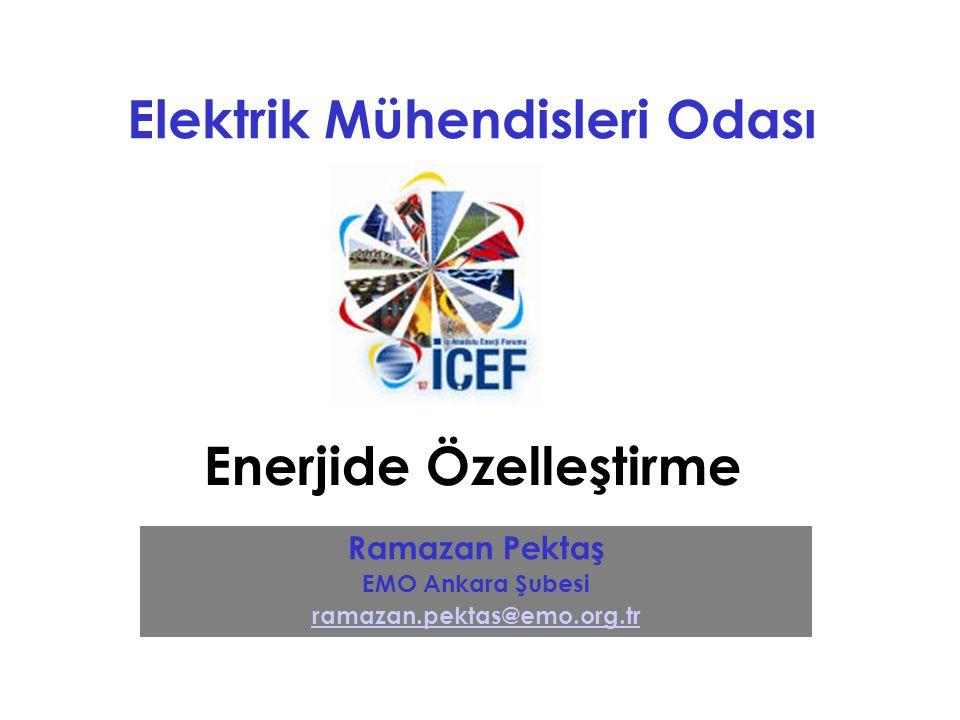 İç Anadolu Enerji Forumu (İÇEF) Özelleştirme Özelleştirme Melek Mi? Şeytan Mı?