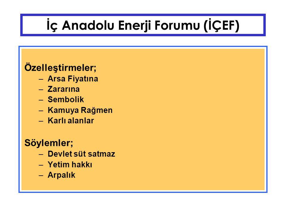 İç Anadolu Enerji Forumu (İÇEF) PTT ARLA (Teletaş) AKTAŞ Kardemir Et Balık Bankalar (Hortum Hikayeleri) Telekom Ve Dağıtım Şirketleri (İstanbul, Sakarya, Ankara)