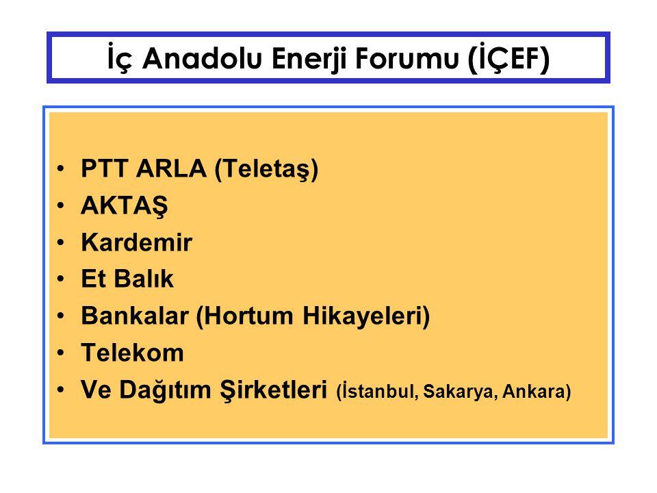 İç Anadolu Enerji Forumu (İÇEF) Özelleştirme itirafı: Seçimden önce özelleştirme yapmayalım, zam yaparlarsa zararlı çıkarız Somut Kanıtlar: Telekom Oyak (10 kat pahalı elektrik) Seydişehir/Oymapınar