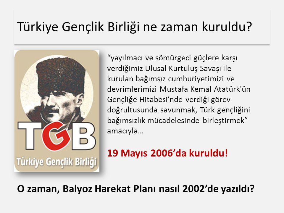"""Türkiye Gençlik Birliği ne zaman kuruldu? """"yayılmacı ve sömürgeci güçlere karşı verdiğimiz Ulusal Kurtuluş Savaşı ile kurulan bağımsız cumhuriyetimizi"""