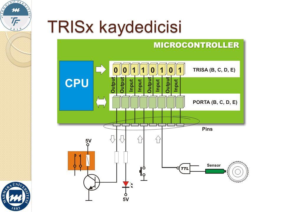 TRISx kaydedicisi