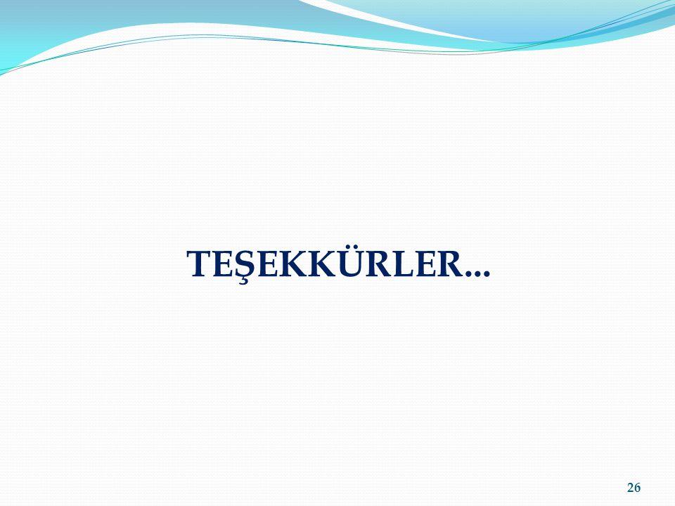 TEŞEKKÜRLER... 26