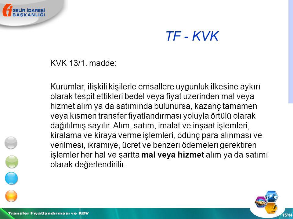 TF - KVK 15/44 KVK 13/1.
