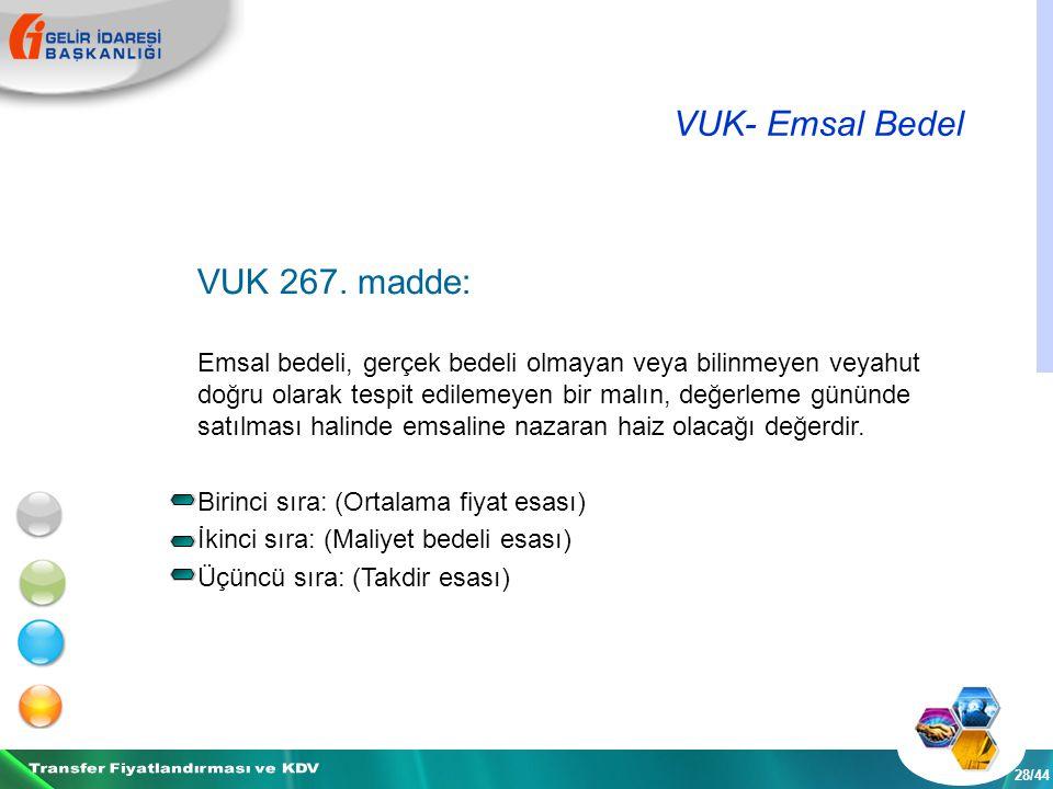 VUK- Emsal Bedel 28/44 VUK 267.