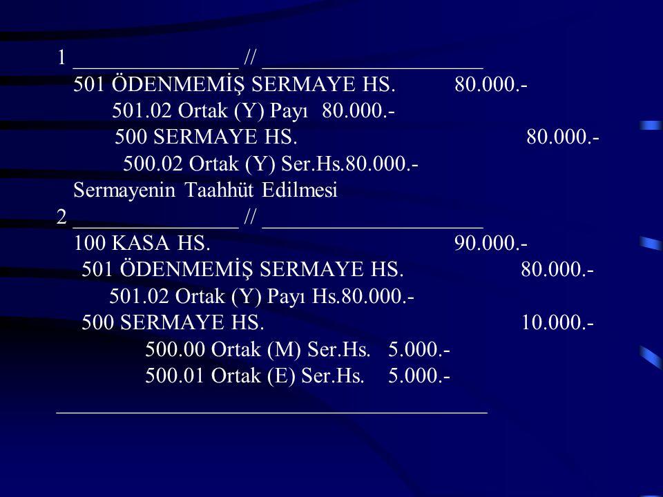 Prim Yöntemine Göre Muhasebeleştirme Sermaye Paylarının Hesaplanması Eski Sermaye (M+E) 150.000.-TL Yeni Ortağın Getirdiği Sermaye 90.000.-TL Şirketin