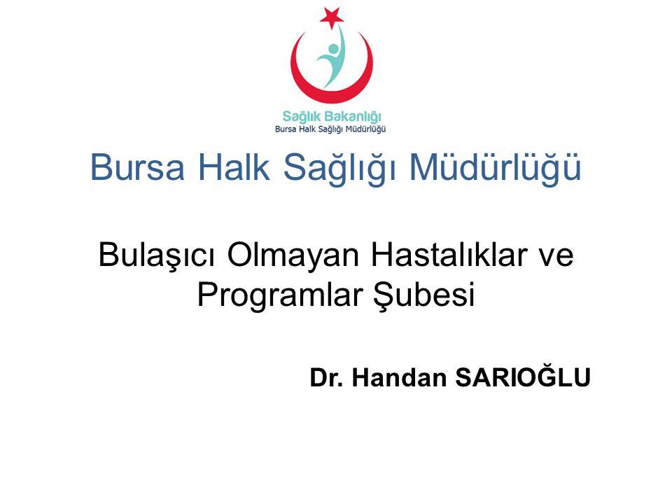 Bursa Halk Sağlığı Müdürlüğü Bulaşıcı Olmayan Hastalıklar ve Programlar Şubesi Dr. Handan SARIOĞLU