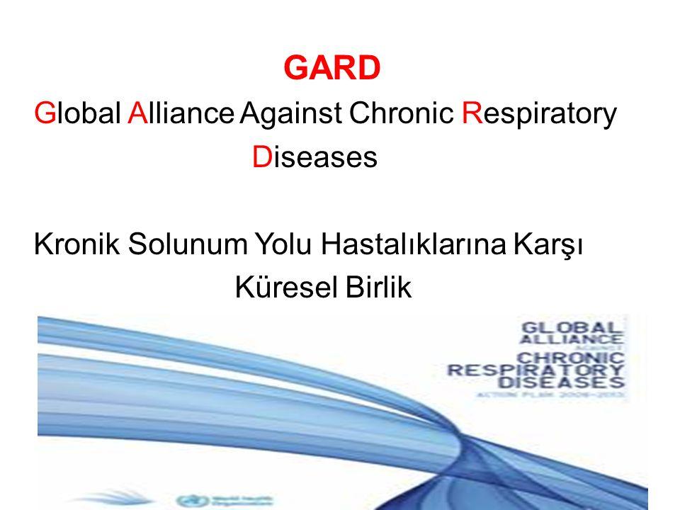 GARD Global Alliance Against Chronic Respiratory Diseases Kronik Solunum Yolu Hastalıklarına Karşı Küresel Birlik