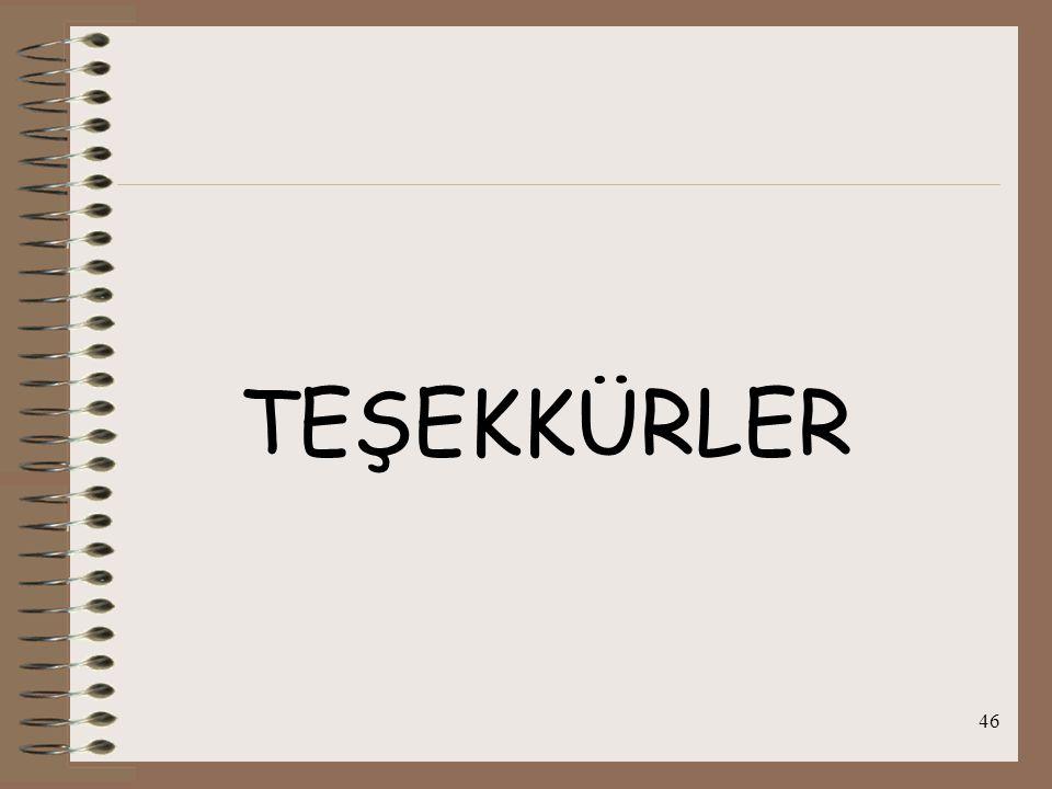 46 TEŞEKKÜRLER