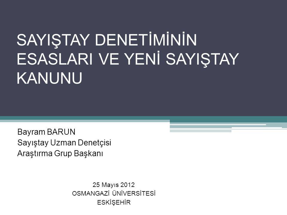 Sonuç 6085 sayılı yeni Sayıştay Kanunu Türk Kamu Mali Yönetimine çağdaş denetim ve adil hesap yargılaması anlayışı getirmiştir.