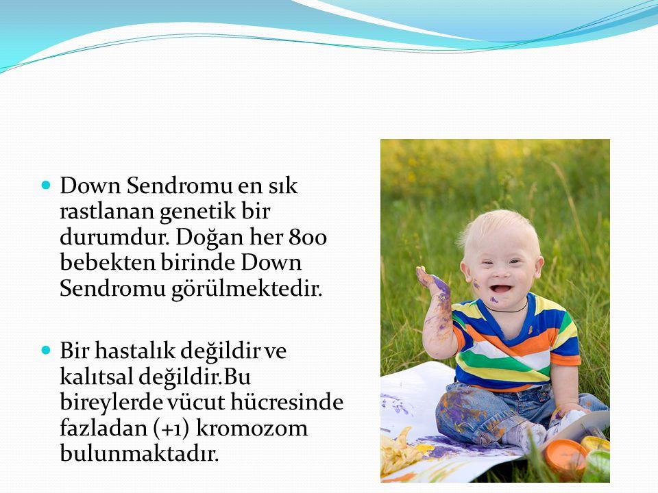 Down Sendromlu bebeği olan bir kadının ikinci bebeğininde Down Sendromlu olma olasılığı %1'dir.
