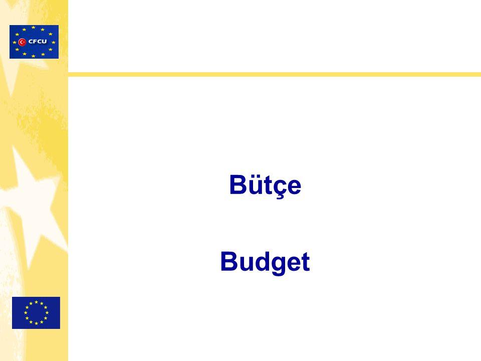Bütçe / Budget 3 Zorunlu Kısımdan Oluşur: Faaliyet bütçesi Maliyetlerin gerekçelendirilmesi Beklenen finansal kaynaklar Consist of 3 Parts Budget breakdown Justification of costs Expected sources of funding