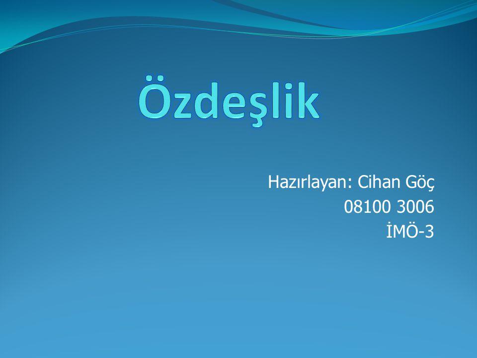 Hazırlayan: Cihan Göç 08100 3006 İMÖ-3