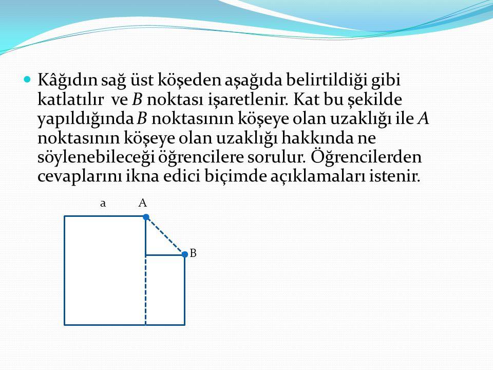 B noktasından diğer kenara paralel başka bir kat izi oluşturulur.