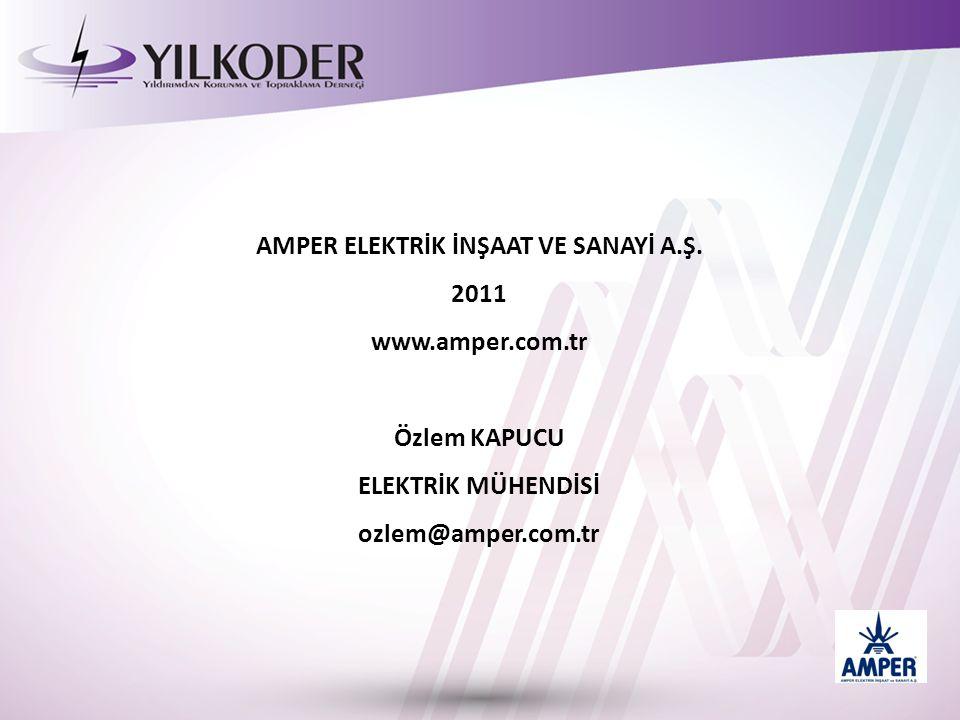AMPER ELEKTRİK İNŞAAT VE SANAYİ A.Ş. 2011 www.amper.com.tr Özlem KAPUCU ELEKTRİK MÜHENDİSİ ozlem@amper.com.tr