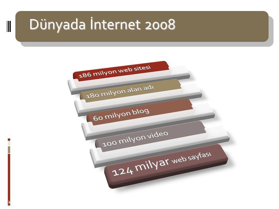 Türkiye'de İnternet kullanıcıları 2008 Türkiye'de İnternet kullanıcıları 2008