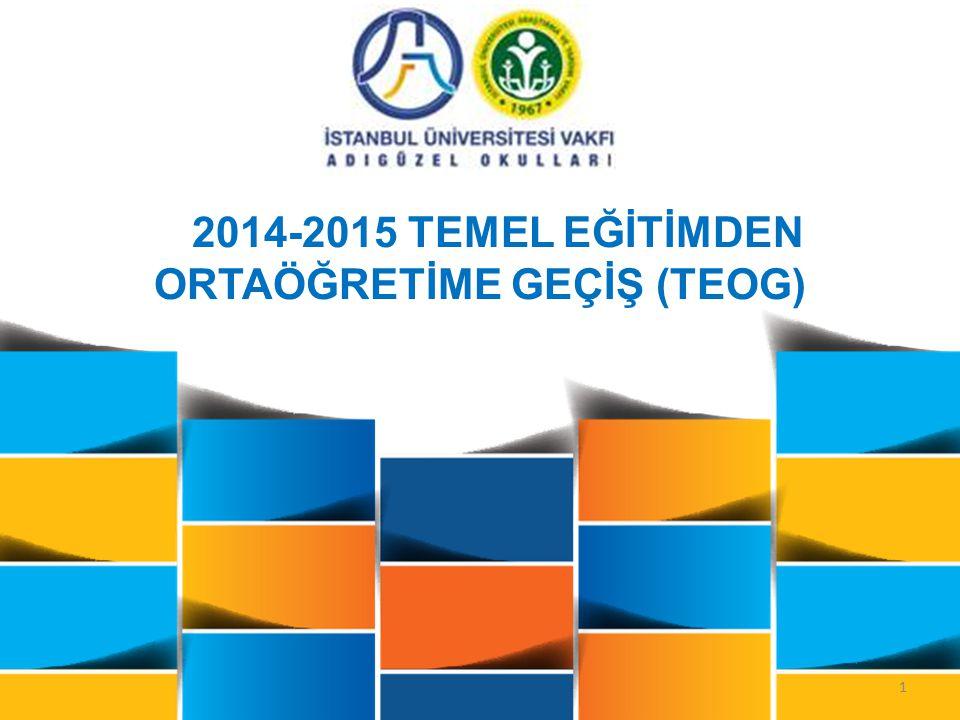1 2014-2015 TEMEL EĞİTİMDEN ORTAÖĞRETİME GEÇİŞ (TEOG)