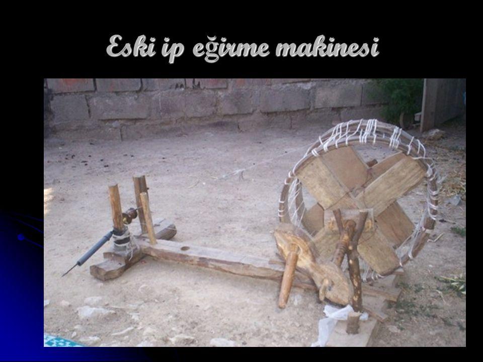 Eski ip eğirme makinesi