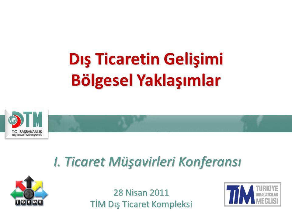  25-29 Nisan 2011 tarihlerinde Dış Ticaret Müsteşarlığı tarafından birincisi düzenlenen Ticaret Müşavirleri Konferansı çerçevesinde, 28 Nisan 2011 tarihinde TİM Dış Ticaret Kompleksi'nde «Bölgesel Ticaret Toplantıları» gerçekleştirilmiştir.