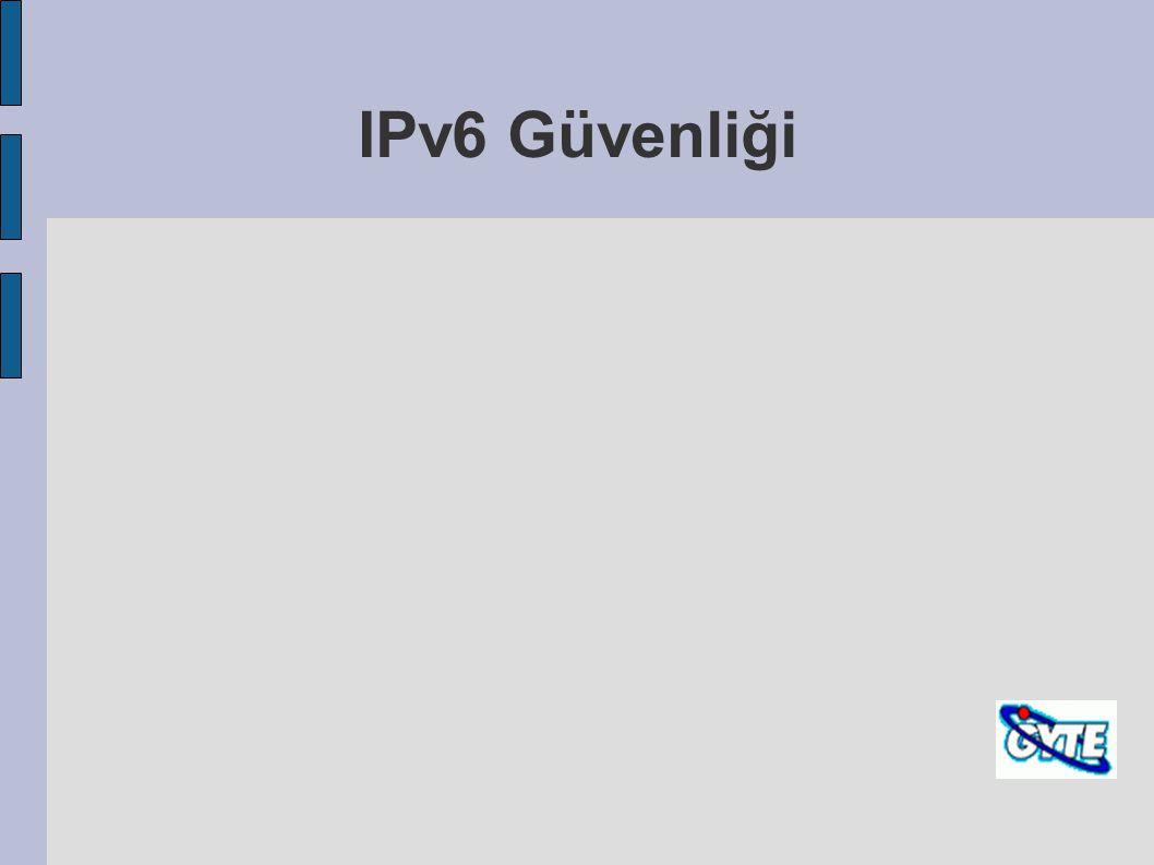 IPv6 Güvenliği