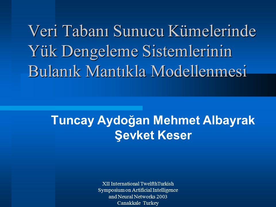 XII International TwelfthTurkish Symposium on Artificial Intelligence and Neural Networks 2003 Canakkale Turkey Giriş İletişim ve İnternet Teknolojileri Neden Yük Dengeleme ?