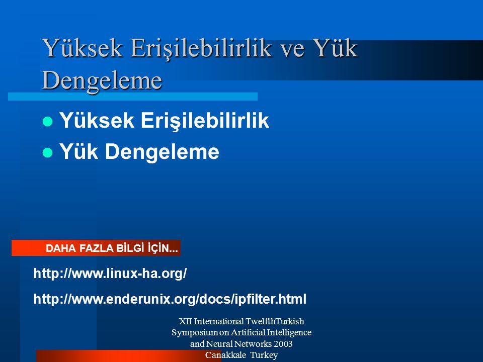 XII International TwelfthTurkish Symposium on Artificial Intelligence and Neural Networks 2003 Canakkale Turkey Yük Dengeleyici Sistem