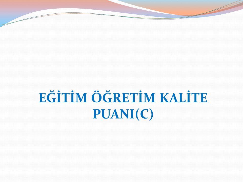 EĞİTİM ÖĞRETİM KALİTE PUANI(C)