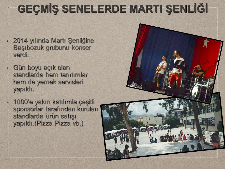 GEÇMİŞ SENELERDE MARTI ŞENLİĞİ 2014 yılında Martı Şenliğine Başıbozuk grubunu konser verdi.