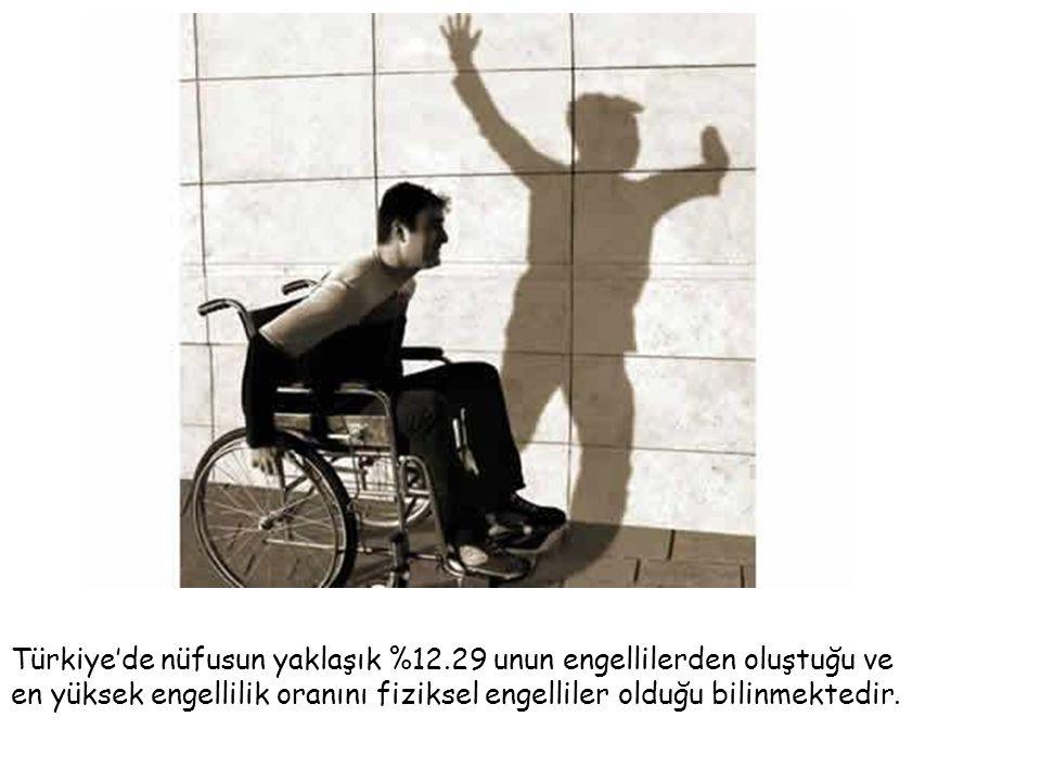 Türkiye'de nüfusun yaklaşık %12.29 unun engellilerden oluştuğu ve en yüksek engellilik oranını fiziksel engelliler olduğu bilinmektedir.