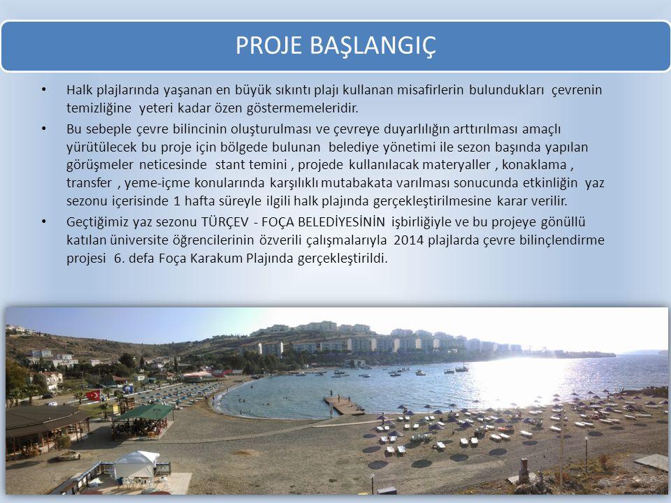 PROJE BAŞLANGIÇ Halk plajlarında yaşanan en büyük sıkıntı plajı kullanan misafirlerin bulundukları çevrenin temizliğine yeteri kadar özen göstermemele