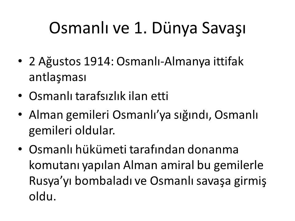 Osmanlı ve 1.
