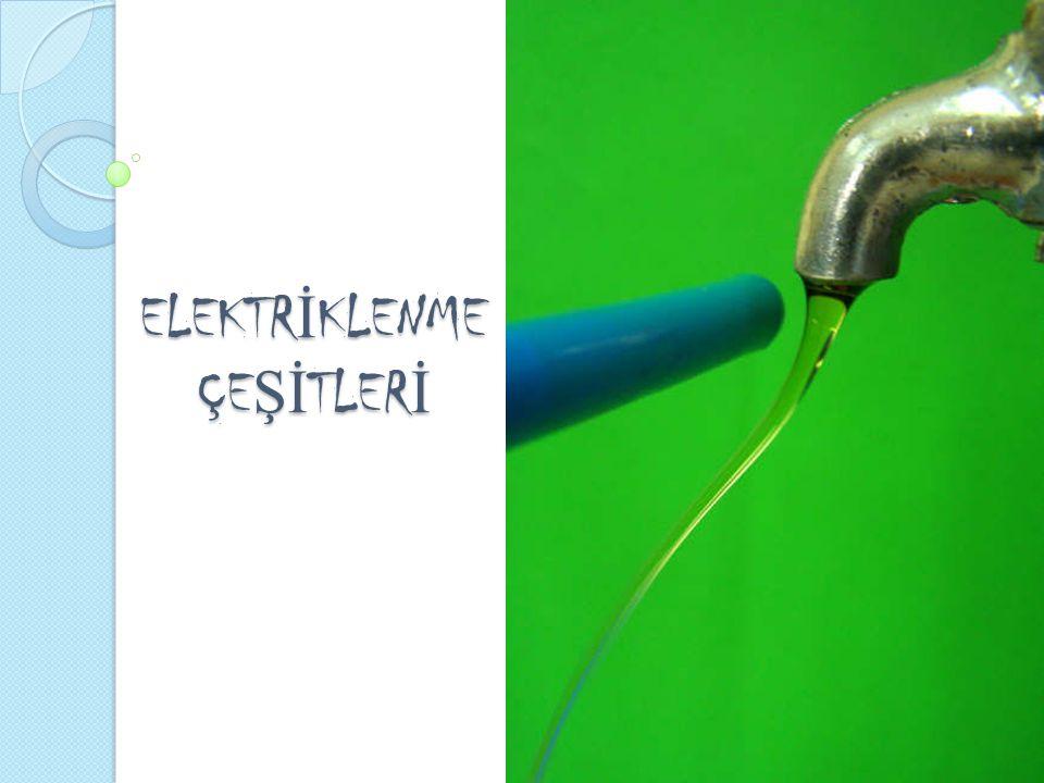 1.SÜRTÜNME İ LE ELEKTR İ KLENME Farklı iki türden iki cisim birbirine sürtündü ğ ünde, sürtünme kuvveti etkisindeki cisimlerin birbirinden elektron kopardı ğ ı gözlenir.