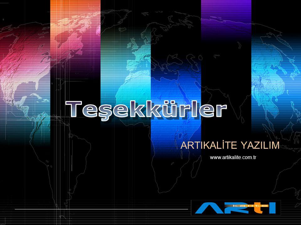 LOGO www.themegallery.com ARTIKALİTE YAZILIM www.artikalite.com.tr
