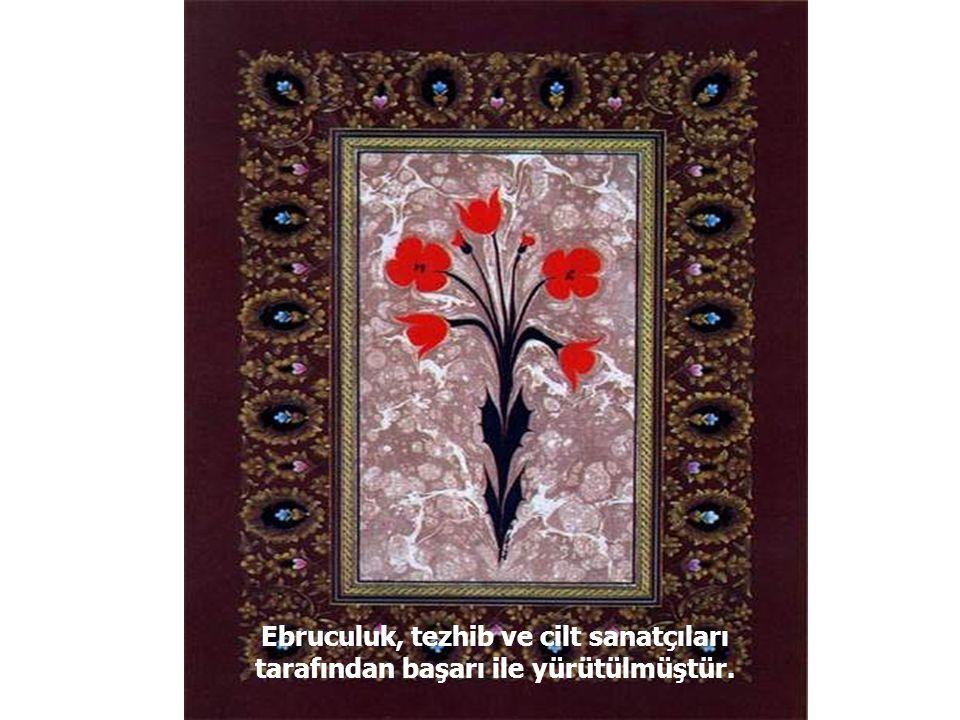 Ebrulu kağıtlar daha çok cilt ve güzel yazı levhalarının kenarları için kullanılmıştır.
